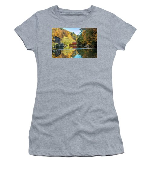 Mcconnell's Mill And Covered Bridge Women's T-Shirt (Athletic Fit)