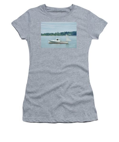 Lobster Boat Harpswell Maine Women's T-Shirt (Athletic Fit)