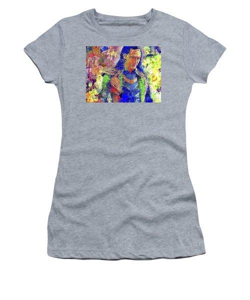 Women's T-Shirt featuring the mixed media Loki by Al Matra