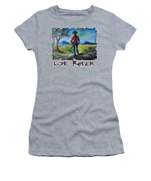 Lone Ranger On Foot Women's T-Shirt (Athletic Fit)