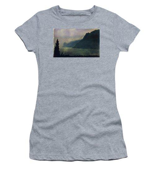 Looking At The Lake... Women's T-Shirt (Junior Cut) by Vittorio Chiampan