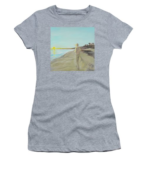 Looking South Tryptic Part 3 Women's T-Shirt (Athletic Fit)