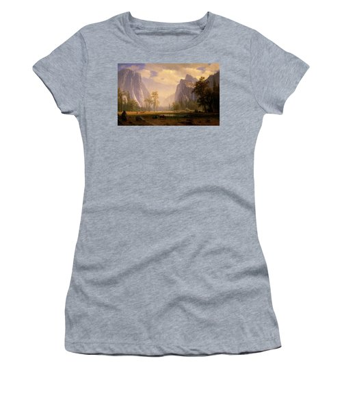 Looking Up The Yosemite Valley  Women's T-Shirt (Athletic Fit)