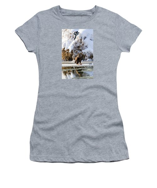 Lookout Above Women's T-Shirt (Junior Cut) by Mike Dawson