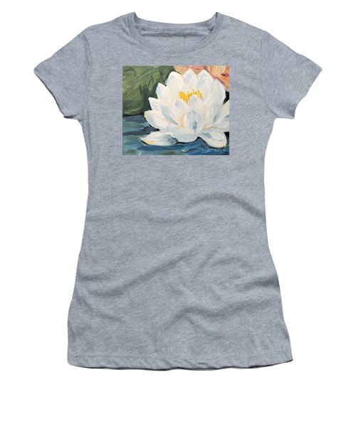 Women's T-Shirt featuring the painting Lotus by Maria Langgle