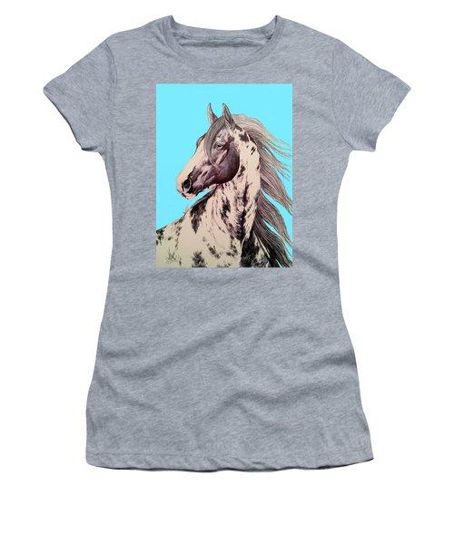 Loud Paint 09925 Women's T-Shirt (Junior Cut) by Cheryl Poland