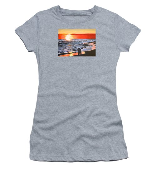 Women's T-Shirt (Junior Cut) featuring the painting Love Is In The Air by Donna Blossom