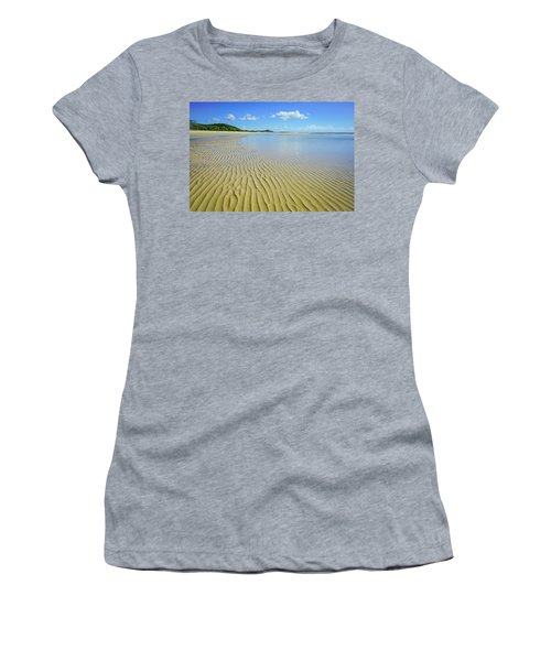 Low Tide Beach Ripples Women's T-Shirt (Athletic Fit)