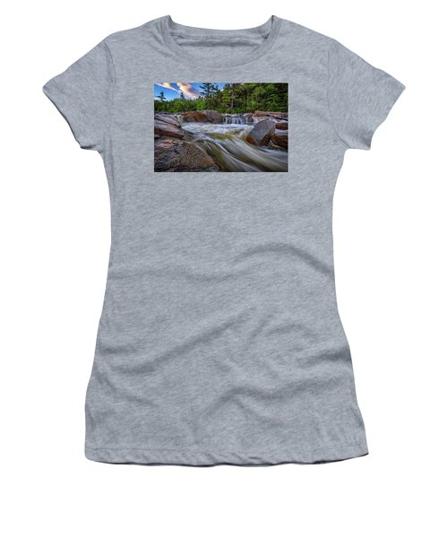 Women's T-Shirt (Athletic Fit) featuring the photograph Lower Falls Of The Swift River by Rick Berk