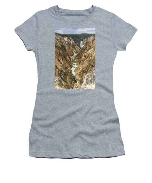 Lower Falls Of The Yellowstone - Portrait Women's T-Shirt (Athletic Fit)