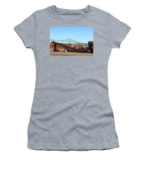 Lumber Mill Machinery In Rainier Oregon Women's T-Shirt (Athletic Fit)