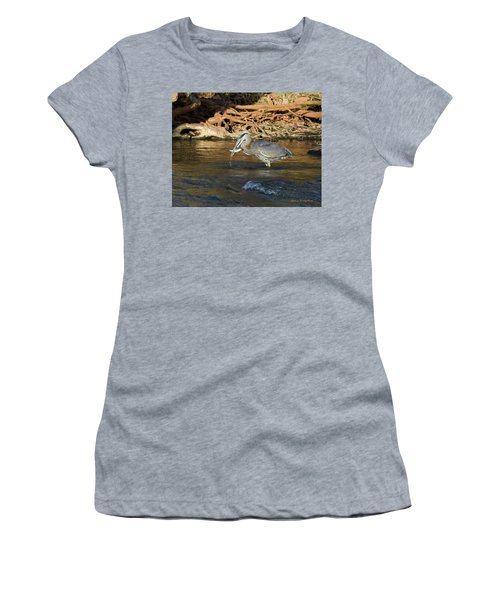 Lunch On The Neuse River Women's T-Shirt (Junior Cut) by George Randy Bass
