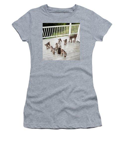 Lynx Family Portrait Women's T-Shirt (Athletic Fit)