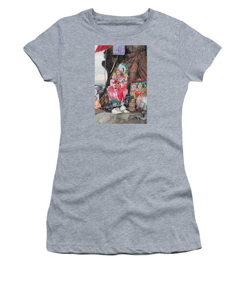 Ma Durga Tree Temple, Haridwar Women's T-Shirt (Junior Cut) by Jennifer Mazzucco