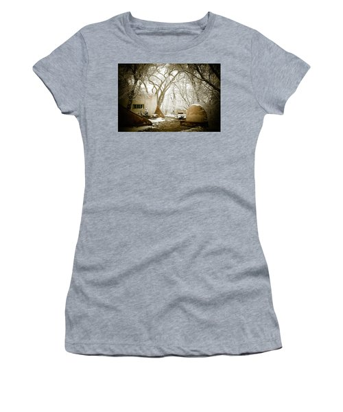 Women's T-Shirt (Junior Cut) featuring the photograph Mabel Luhan Dodge Home Exterior by Marilyn Hunt