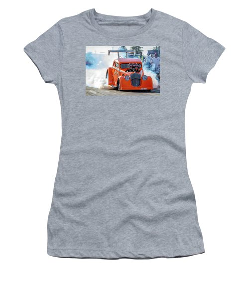 Women's T-Shirt (Junior Cut) featuring the photograph Mad Mike Racing by Bill Gallagher