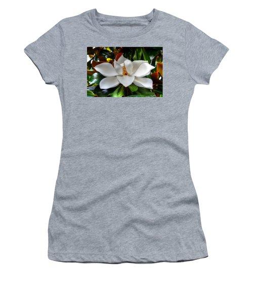 Magnolia Bloom Women's T-Shirt (Athletic Fit)