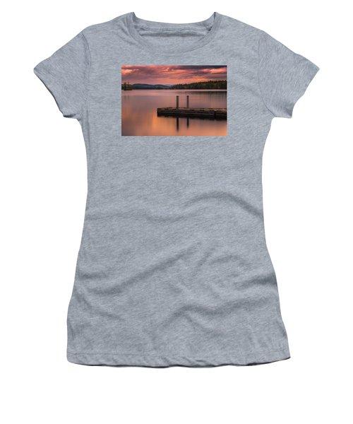 Maine Highland Lake Boat Ramp At Sunset Women's T-Shirt