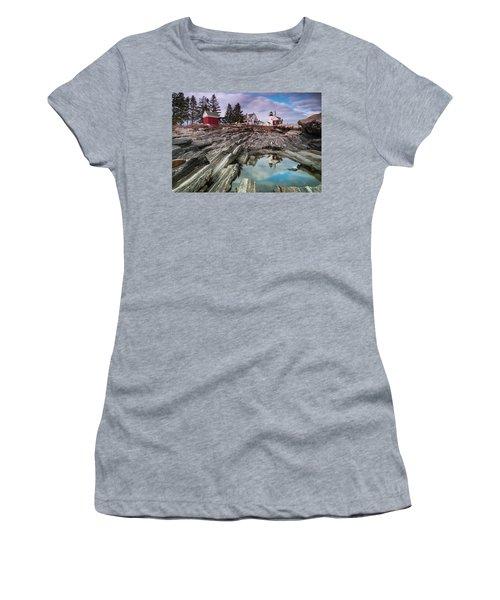 Maine Pemaquid Lighthouse Reflection Women's T-Shirt