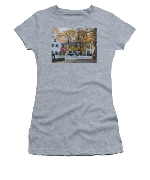 Autumn Day On Maine Street, Kennebunkport Women's T-Shirt (Athletic Fit)
