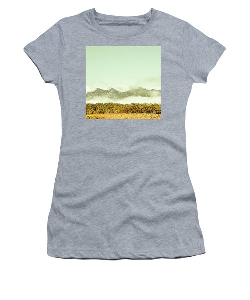 Majestic Misty Mountains Women's T-Shirt