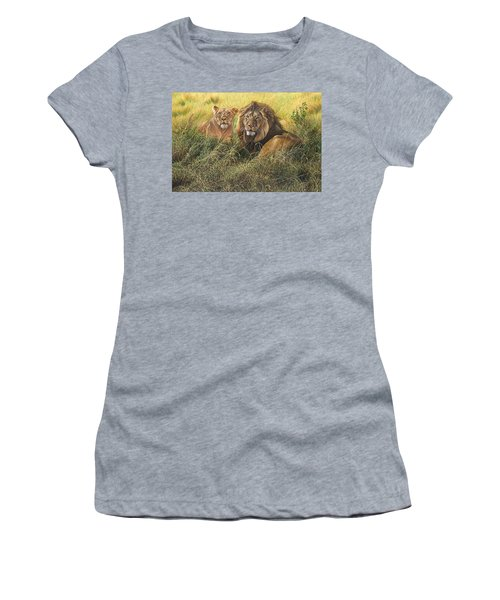 Male And Female Lion Women's T-Shirt