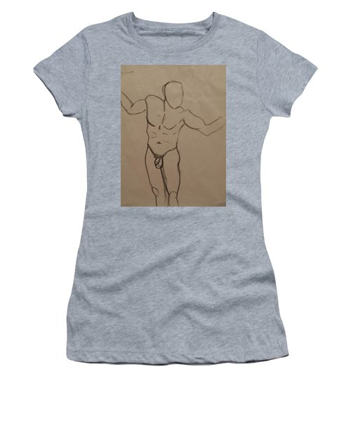 Male Nude Drawing 2 Women's T-Shirt (Athletic Fit)