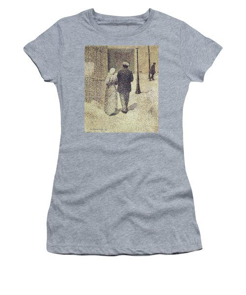 Man And Woman In The Street Women's T-Shirt