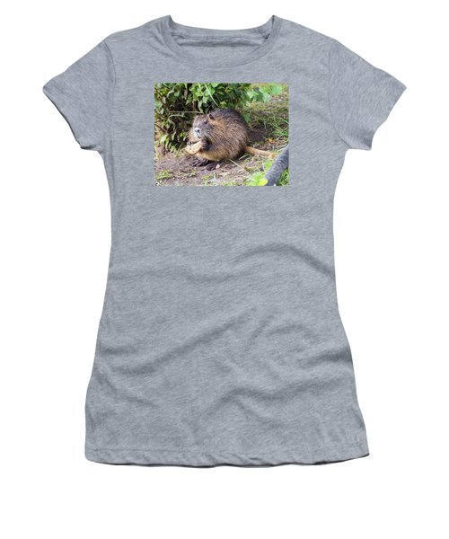 Women's T-Shirt (Athletic Fit) featuring the photograph Man Does Not Live By Bread Alone by Alex Lapidus