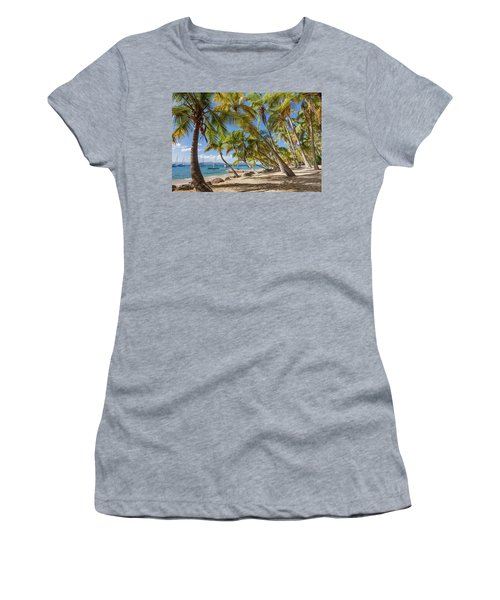 Women's T-Shirt (Athletic Fit) featuring the photograph Manchioneel Bay, Cooper Island by Adam Romanowicz