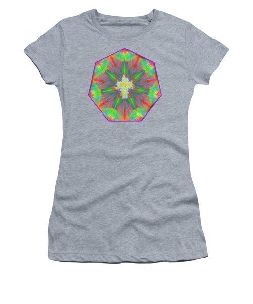 Mandala 1 1 2016 Women's T-Shirt (Junior Cut) by Hidden Mountain
