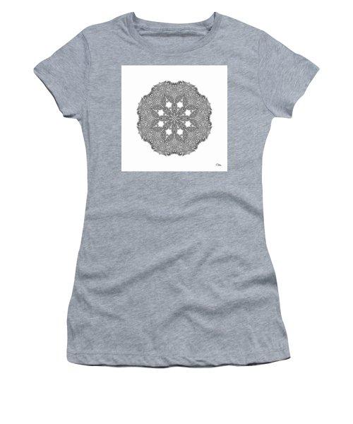 Women's T-Shirt (Junior Cut) featuring the digital art Mandala To Color by Mo T