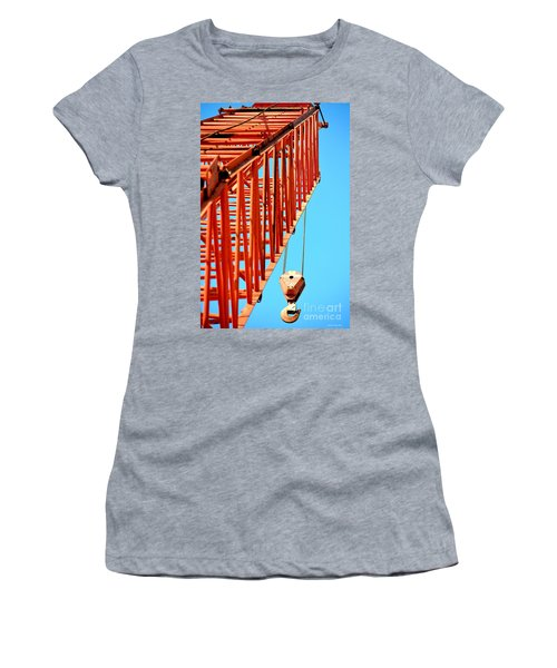 Manitowoc Red Boom Block And Hook Women's T-Shirt (Athletic Fit)