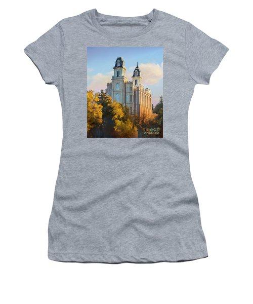 Manti Temple Tall Women's T-Shirt