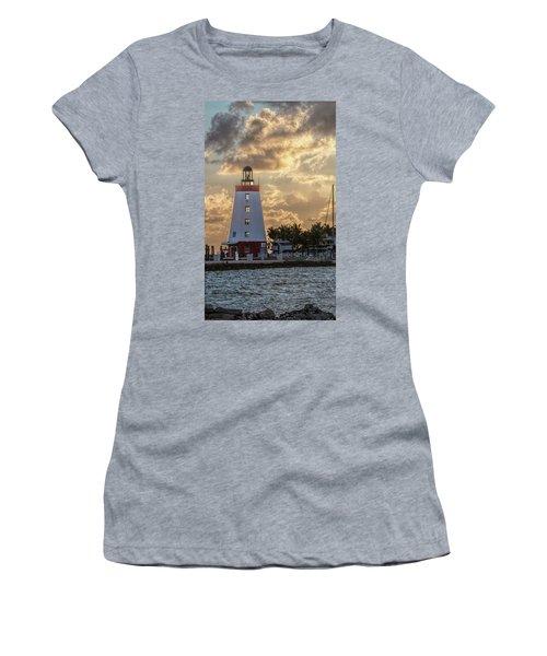 Marathon Light House Women's T-Shirt (Athletic Fit)