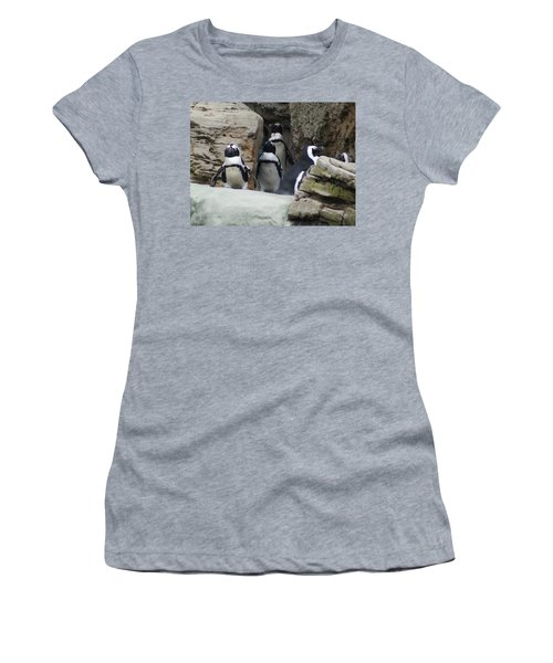 March Of The Penguins Women's T-Shirt (Junior Cut) by B Wayne Mullins