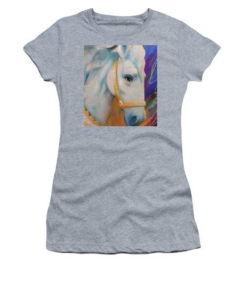 Mardi Gras Horse Women's T-Shirt (Athletic Fit)