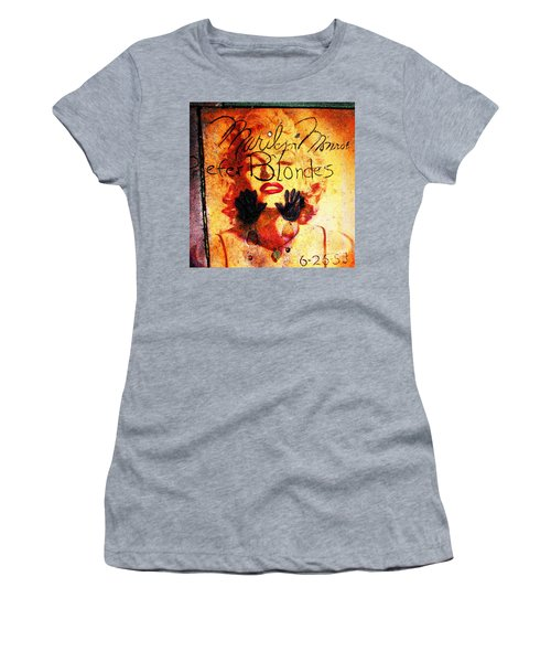 Women's T-Shirt featuring the photograph Marilyn Monroe Gentlemen Prefer Blondes 20160105 by Wingsdomain Art and Photography