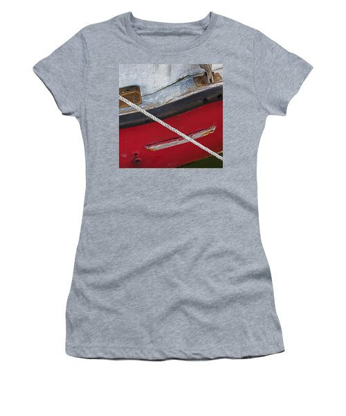 Women's T-Shirt (Athletic Fit) featuring the photograph Marine Abstract by Charles Harden