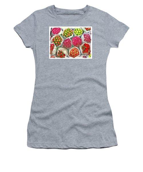 Market Flowers - Hong Kong Women's T-Shirt