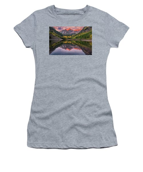 Maroon Bells At Sunrise Women's T-Shirt