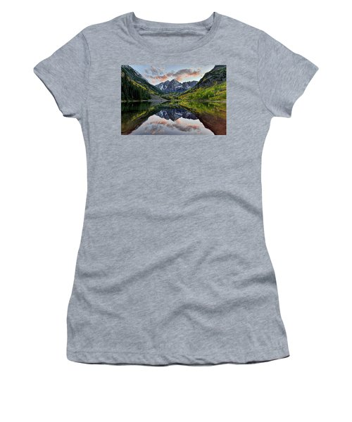 Maroon Bells Sunset Women's T-Shirt (Athletic Fit)