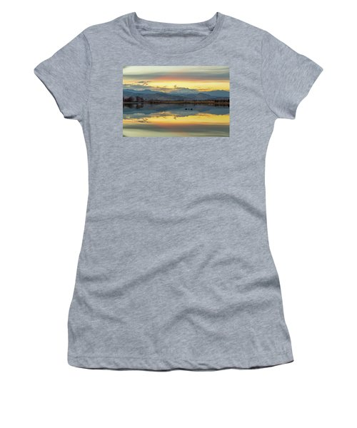 Women's T-Shirt (Junior Cut) featuring the photograph Marvelous Mccall Lake Reflections by James BO Insogna