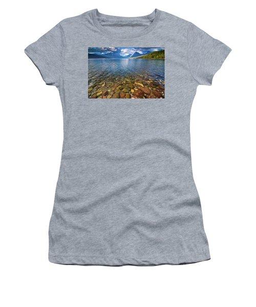 Mcdonald Lake Colors Women's T-Shirt (Athletic Fit)