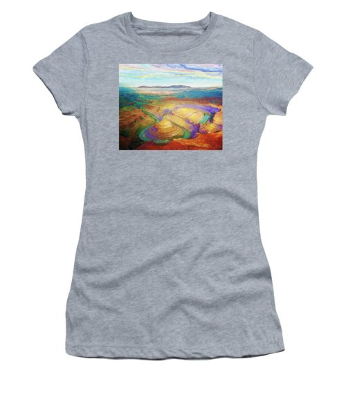Meander Canyon Women's T-Shirt (Junior Cut)