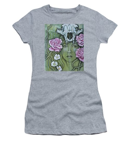 Women's T-Shirt (Junior Cut) featuring the mixed media Medicinae by Sheri Howe