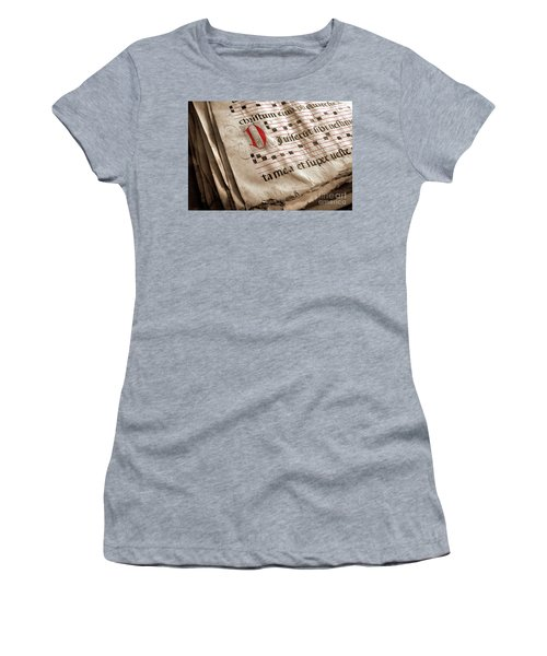 Medieval Choir Book Women's T-Shirt (Athletic Fit)