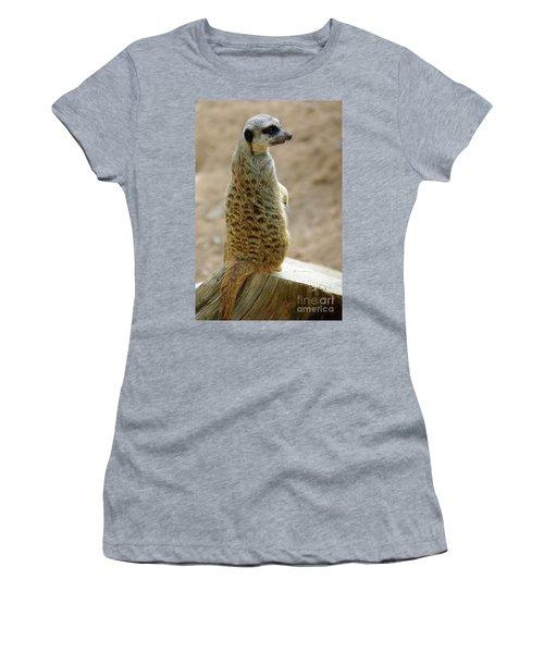 Meerkat Portrait Women's T-Shirt (Athletic Fit)
