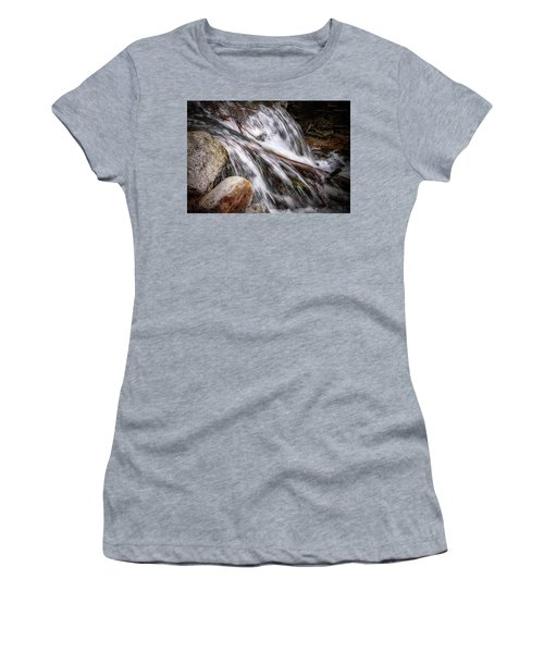 Melting Snow Falls Women's T-Shirt (Athletic Fit)