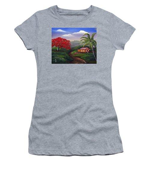 Memories Of My Island Women's T-Shirt (Junior Cut) by Luis F Rodriguez